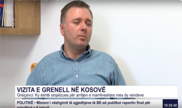 A short Interview with Dr. Labinot Greiçevci regarding the visit in Kosovo of Special Envoy of President Trump (Ambassador Richard Grenell) on the Kosovo-Serbia dialogue
